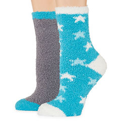Mixit 2 Pair Slipper Socks - Womens