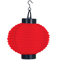 Pure Garden Set of 4 Solar Outdoor LED Chinese Lanterns