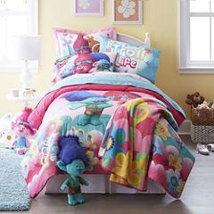 Trolls Reversible Twin/Full Comforter + BONUS Sham