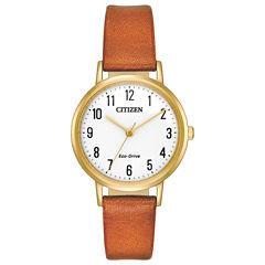 Citizen Womens Brown Strap Watch-Em0572-05a