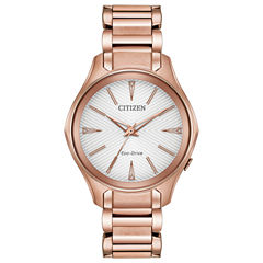 Citizen Womens Pink Bracelet Watch-Em0593-56a
