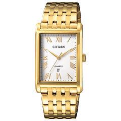 Citizen Quartz Mens Gold Tone Bracelet Watch-Bh3002-54a