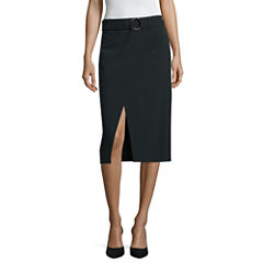 Worthington Belted Pencil Skirt
