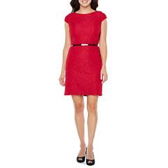 Alyx Cap Sleeve Sparkle Sheath Dress
