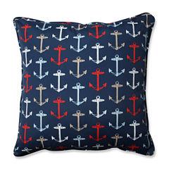 Pillow Perfect Anchor Allover Arbor Square Outdoor/Outdoor Floor Pillow