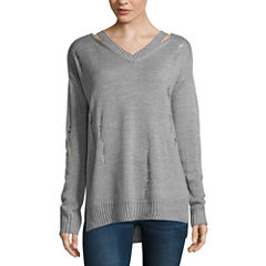 Arizona Destructed Sweater-Juniors