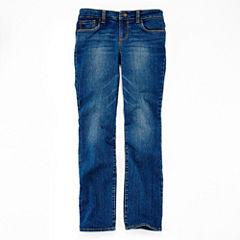 Arizona Straight Fit Jeans - Girls 7-16, Slim and Plus