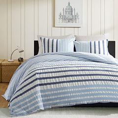 INK+IVY Bryant Blue Striped Duvet Cover Set
