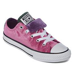 Converse Chuck Taylor All Star Double Tongue Velvet Girls Sneakers - Little Kids/Big Kids