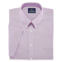 Stafford Travel Wrinkle-Free Oxford Short Sleeve Dress Shirt