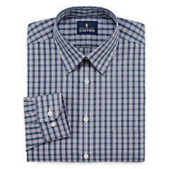 Stafford Travel Performance Super Long Sleeve Broadcloth Plaid Dress Shirt Big & Tall