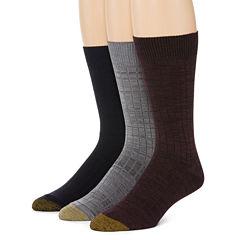 Gold Toe® 3-pk. Johnny Rib Crew Socks