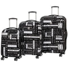 IT Luggage Virtuoso 8 Wheel 3-Pc Hardside Luggage Set