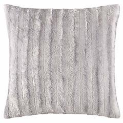 Madison Park Duke Faux Fur Square Throw Pillow