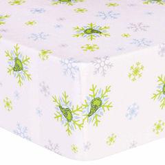 Trend Lab Dr Seuss Grinch Flannel  Crib Sheet