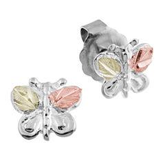 Landstroms Black Hills Gold Sterling Silver Stud Earrings