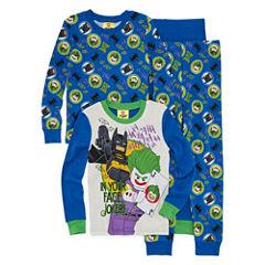 Batman Lego 4 pc Pajama Set - Boys 4-20