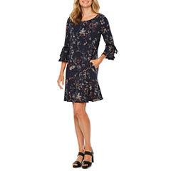 Alyx Long Sleeve Floral A-Line Dress
