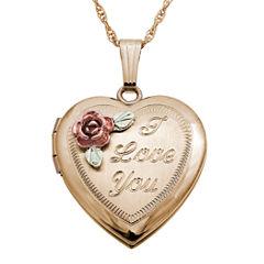Black Hills Gold Black Hills Gold Landstroms Womens 10K Gold Locket Necklace