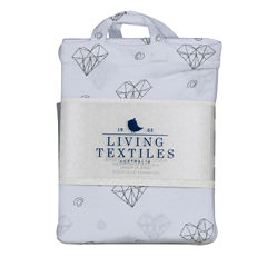 Living Textiles Sketched Hearts Changing Pad Cover
