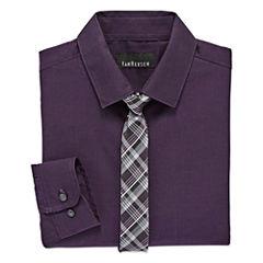 Van Heusen Shirt + Tie Set - 8-20 Boys