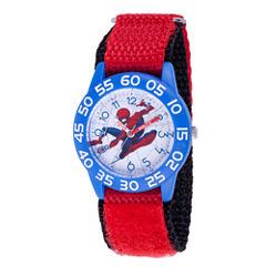 Spiderman Boys Red Strap Watch-Wma000182