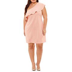 DR Collection Sleeveless Sheath Dress-Plus