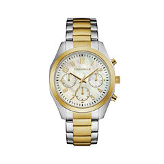 Caravelle Womens Two Tone Bracelet Watch-45l169