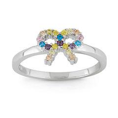 Girls Multi Color Cubic Zirconia Delicate Ring
