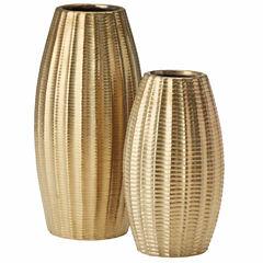 Madison Park Camila Gold Ceramic Vase Set Of 2