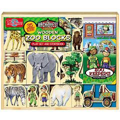 Archiquest 35 Piece Zoo Wooden Blocks