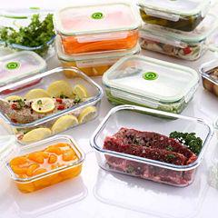 Lasting Freshness 5-piece Glass Vacuum Food Storage Containers, Rectangular