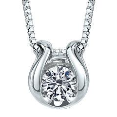 Sirena® 1/12 CT. T.W. Diamond Solitaire 14K White Gold Pendant Necklace