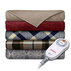 Slumberrest Comfy Toes Microplush Electric Throw
