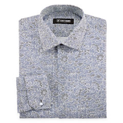 Stacy Adams Long Sleeve Woven Floral Dress Shirt