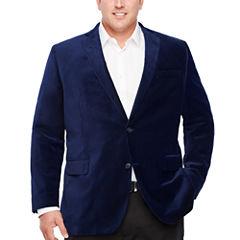 J.Ferrar Classic Fit Velvet Sport Coat - Big and Tall