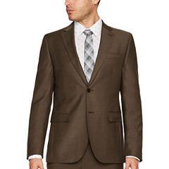 JF J.Ferrar Tan Sheen Skin Suit Separates-Slim