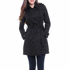 BGSD Women's Viv Hooded Mid Length Trench Coat