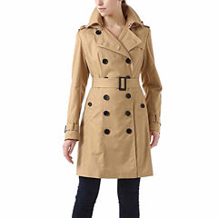 BGSD Women's Alexa Classic Hooded Long Trench Coat
