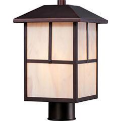 Filament Design 1-Light Claret Bronze Outdoor PostLight