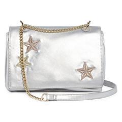 Embroidered Stars Crossbody Bag