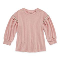 Arizona 3/4 Sleeve Sweatshirt - Big Kid Girls