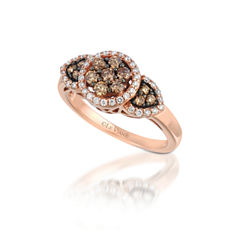 Grand Sample Sale™ by Le Vian® 5/8 CT. T.W. Vanilla Diamonds® & Chocolate Diamonds® 14k Strawberry Gold® Chocolatier® Ring