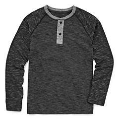 Arizona Long Sleeve Round Neck T-Shirt-Big Kid Boys Husky