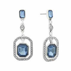Monet Blue And Silvertone Drop Earring
