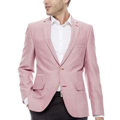 The Savile Row Company Slim Fit Chambray Sport Coat