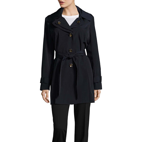 Liz Claiborne Belted Raincoat-Tall