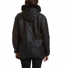 Excelled® Reversible Faux-Leather/Faux-Fur Jacket