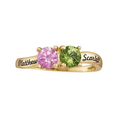 Personalized Birthstones Couples Ring