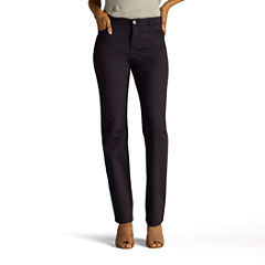 Lee Straight Fit Straight Leg Jeans-Petites
